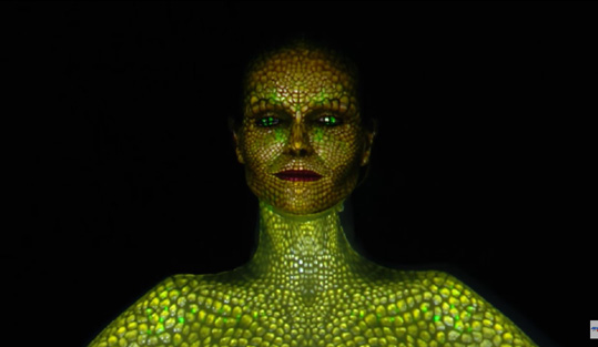 Oskar and Gaspar: Digital Artists Use Heidi Klum's Body As Canvas – America's Got Talent 2017